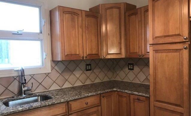 angled kitchen