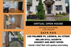 [VIRTUAL OPEN HOUSE] 100 PALMER PL. LEONIA, NJ 07605